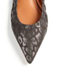 Lanvin - Metallic Leopard-patterned Suede Flats - Lyst