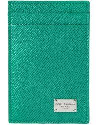 Dolce & Gabbana - Green 'Dauphine' Card Holder for Men - Lyst