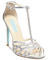 Betsey Johnson | Metallic Blue By Ruby Evening Sandals | Lyst