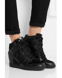 Lyst Nike Undercover Dunk Sky Hi Leather and Faux Calf Hair