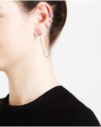 Loree Rodkin | Metallic 18k Oxidised Gold And Grey Diamond Ear Cuff | Lyst