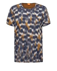 BOSS Orange | Blue 'timmoleo' | Cotton Printed T-shirt for Men | Lyst