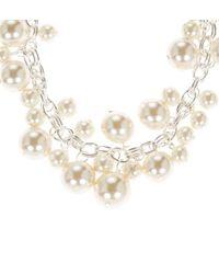Hobbs | White Annie Pearl Necklace | Lyst