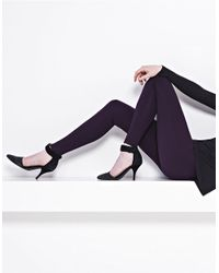 Lyssé | Purple Ponte Tights With Center Seam | Lyst