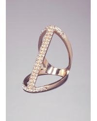 Bebe | Metallic Cutout Cocktail Ring | Lyst