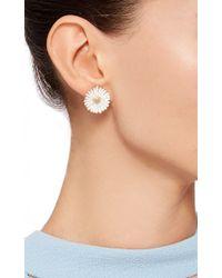 Alison Lou | White Daisy Clip On Enamel Earrings | Lyst