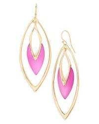 Alexis Bittar | Metallic 'lucite' Orbiting Drop Earrings - Hot Pink | Lyst