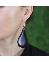 Lucifer Vir Honestus - Black Ebony Wood Earrings - Lyst
