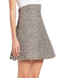 RED Valentino - Black Tweed High-waisted Skirt - Lyst