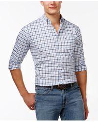 Tommy Hilfiger - Blue Baldwin Tattersall Plaid Long-sleeve Shirt for Men - Lyst