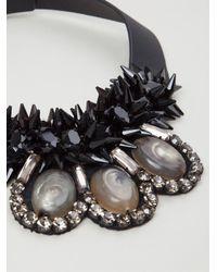 Marni - Black Crystal Collar Necklace - Lyst