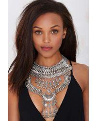 Nasty Gal - Metallic Drama Queen Collar Necklace - Lyst