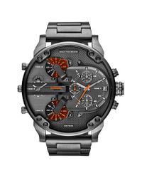 DIESEL - Metallic Diesel 'mr. Daddy 2.0' Chronograph Bracelet Watch for Men - Lyst