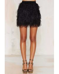 Nasty Gal | Black Birds Of A Feather Mini Skirt | Lyst
