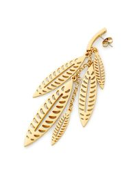 Rebecca Minkoff | Metallic Leaf Chandelier Earring | Lyst