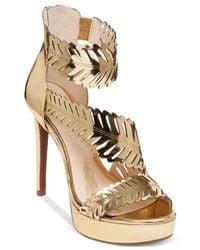 Jessica Simpson | Metallic Azure Platform Dress Sandals | Lyst