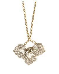 Lulu Frost | Metallic Gold-Tone Cactus Flower Pendant Necklace | Lyst