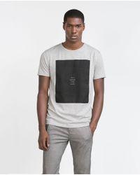 Zara | Black Short Sleeve T-shirt for Men | Lyst