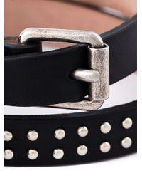 Alexander McQueen   Black Double Wrap Skull Bracelet   Lyst