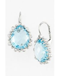Anzie | Blue 'dew Drop' Drop Earrings | Lyst