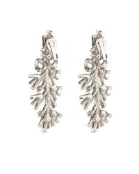 Oscar de la Renta | Metallic Bow Crystal-embellished Earrings | Lyst