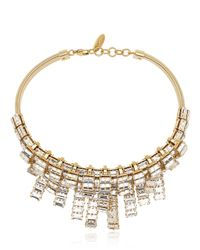 Giuseppe Zanotti - Metallic Crystal Embellished Necklace - Lyst