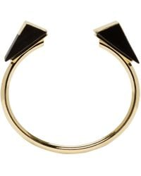 Isabel Marant | Metallic Gold And Black From The Block Bracelet | Lyst