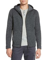 Vince | Black Trim Fit Full Zip Fleece Hoodie for Men | Lyst