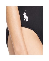 Polo Ralph Lauren | Black Scoop-back One-piece | Lyst