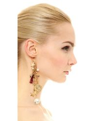 Venessa Arizaga | Metallic Stargazer Earring - Gold Multi | Lyst