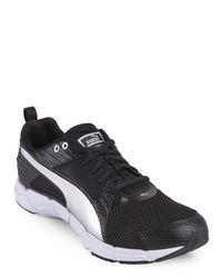 PUMA - Black & Silver Synthesis Sneakers for Men - Lyst