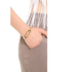 Giles & Brother - Metallic Safety Pin Id Cuff Brass - Lyst