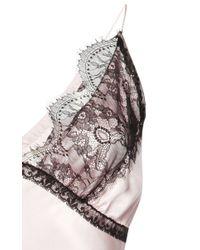 Natasha Zinko - Pink Silk Slip Dress - Lyst