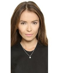 Helen Ficalora | Metallic Pretzel Charm - Silver | Lyst