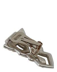 Ben-Amun - Metallic Silver Tone Swarovski Crystal Embellished Clip-On Earrings - Lyst