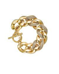 Michael Kors | Metallic Chain Link Toggle Bracelet | Lyst