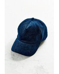 Silence + Noise - Blue Corduroy Baseball Hat - Lyst