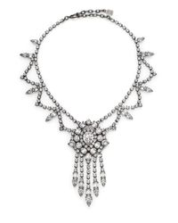 DANNIJO - Metallic Britt Crystal Fringe Drop Necklace - Lyst