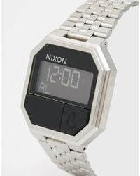 Nixon - Black Re-run Digital Watch A158 - Silver - Lyst
