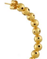 Paula Mendoza - Metallic Helios Gold-Plated Hoop Earrings - Lyst