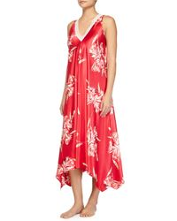Oscar de la Renta - Pink Spanish Lilly Floral-print Long Gown - Lyst