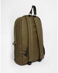 ASOS - Green Backpack In Khaki Snakeskin Effect for Men - Lyst