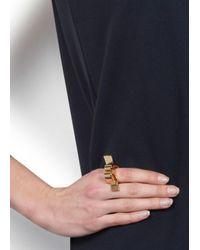 Lara Bohinc | Metallic Nadia 18 Karat Gold Plated Ring | Lyst