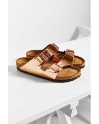 Birkenstock - Arizona Metallic Soft Footbed Sandal - Lyst