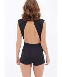 Forever 21 - Metallic Chained Asymmetrical Romper You've Been Added To The Waitlist - Lyst