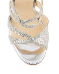 Ivanka Trump | Metallic Hotis 2 Rhinestone Stiletto Sandals | Lyst