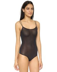 Wolford | Black String Bodysuit | Lyst