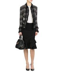 Donna Karan - Red Tweed Jacket - Black - Lyst