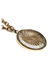 Lanvin | Metallic Womens Medallion Necklace | Lyst