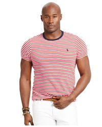 Polo Ralph Lauren | Red Big And Tall Striped Crewneck T-shirt for Men | Lyst